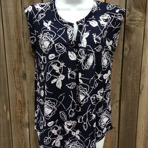 Paper moon shirt Navy and white size Small